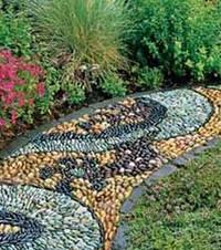 Каменная мозаика для садовой дорожки