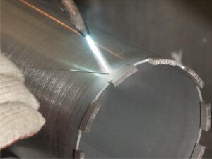 Напайка алмазных сегментов на коронки
